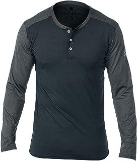 Henley Long Sleeve Shirts for Men - Moisture-Wicking...