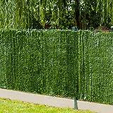 Gardenode Haie Artificielle Thin en Rouleau de 3 mètres - H 1m00-90 brins
