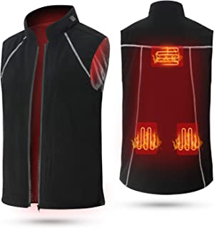 Vinmori Electric Heated Vest Washable Size Adjustable (Battery Not Include)