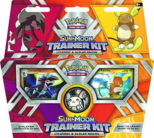 PoKéMoN 290-80210 Sun and Moon Trainer Kit - Lycanroc & Alolan Raichu - Englisch