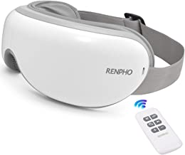 RENPHO 2.0 - Eye Massager with Remote Control & Heat, Compression Bluetooth Music Rechargeable Eye Therapy Massager for Re...