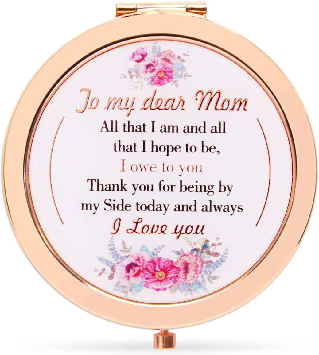 Onederful Mom Gifts New arrival Cheap bargain from Daughter Son Compact Rose Makeup Gold M