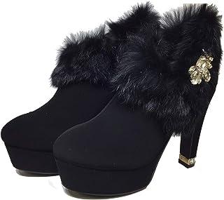 ブーティー ファー ビジュー レディース ブーツ VentiAnni ブーティー ヴェンティアンニ ファーブーティー ショートブーツ キラキラ Venti Anni 靴 美脚 女性
