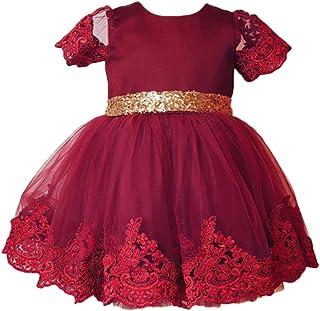 (プタス) Putars 子供ドレス チュールドレス 女の子 フォーマル シークイン レース 三色 プリンセス 可愛い 結婚式 ピアノ 発表会 記念日 プレゼント 6ヶ月-6歳