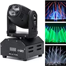 Mopoq Moving Head Stage Beam Light, LED Spotlight RGBW 10W 11/13CH Voice-activated DMX512 Control for Party Show DJ KTV We...