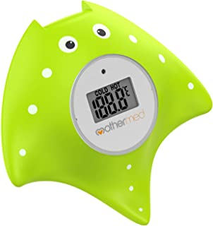 Sponsored Ad - MotherMed Baby Bath Thermometer and Floating Bath Toy Bathtub Safety Temperature Thermometer Green Fish Onl...