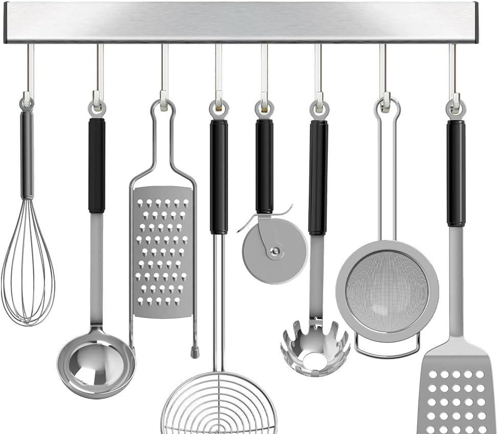 Utensil overseas Racks with 10 hooks Kitchen 16 Inch Holders Punc Sale