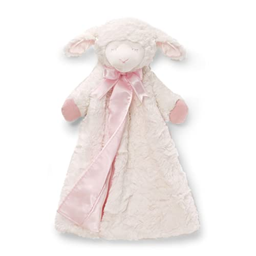 Baby GUND Winky Lamb Huggybuddy Stuffed Animal Plush Blanket, Pink