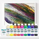 LM Pouring Fix & Fertig Set 10 tlg. - Basic - Fertig gemischte Pouring-Farben -Farbe gießen, Pouring-Farbe, Medium, Puddle-Pouring, Dirty, Flip Cup - 4