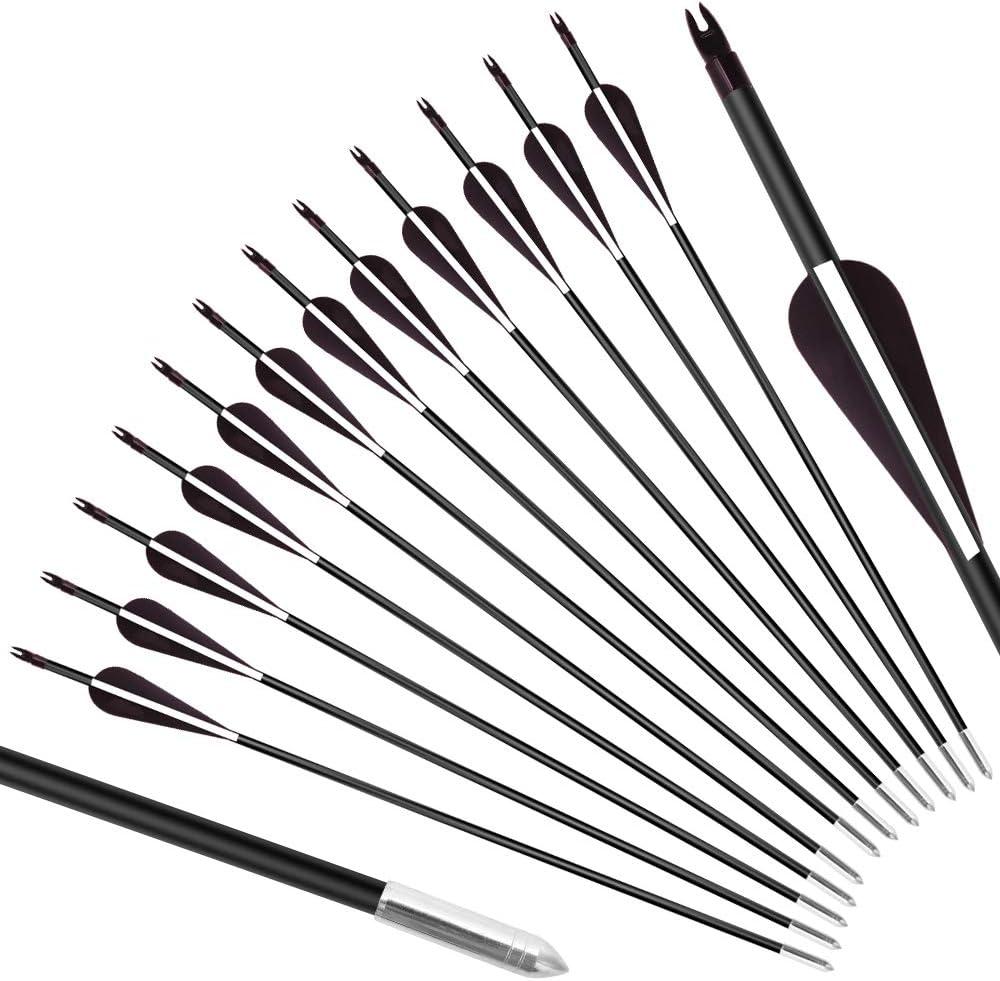 E-ROCK 12pcs 28 inch Training Arr Sale item Arrows-Archery Practice Ranking TOP1 Target