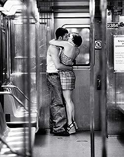 HUNTINGTON GRAPHICS Urban Romance Subway Kiss Romantic Black and White Photo Cool Wall Decor Art Print Poster 24x36