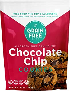 Chocolate Chip Cookie Baking Mix - Vegan & Gluten Free - Low Carb - Top 8 allergen free - Healthy and Natural Ingredients...