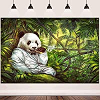 HD Animal Background FHZON 10x7ft Panda Backdrop Forest Bamboo Background for Photography Outdoor Style Theme Party Nature Landscape YouTube Backdrops Props 186