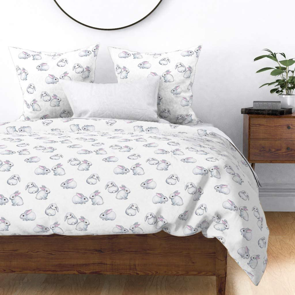 Roostery We OFFer at cheap prices Bunny Duvet Cover Ranking TOP4 Little White Pink Ears Rabbit Nursery
