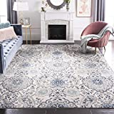 Safavieh Madison Collection MAD600C Bohemian Chic Glam Paisley Area Rug, 6' 7' x 9' 2', Cream/Light Grey