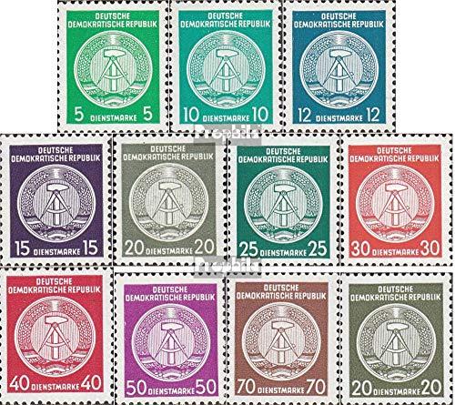 Prophila Collection DDR DA18N-DA27N,DA28N (kompl.Ausg.) Nachdruck 1954 Zirkelbogen nach rechts (Briefmarken...