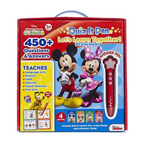 Price comparison product image Disney - Mickey and Minnie Mouse Quiz It Pen Preschool Let's Learn Together Set - PI Kids