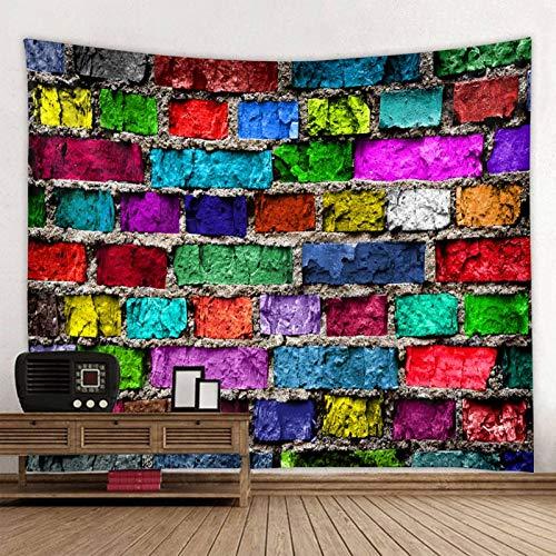 KHKJ Tapiz Impreso de Pared de Piedra de Golpe Tapiz Colgante de Gran tamaño tapices Hippie Boho Baratos Tela de Mandala A4 200x180cm