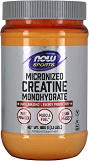 NOW Sports Nutrition, Micronized Creatine Powder 500 g, Mass Building*/Energy Production*, 1.1-Pound