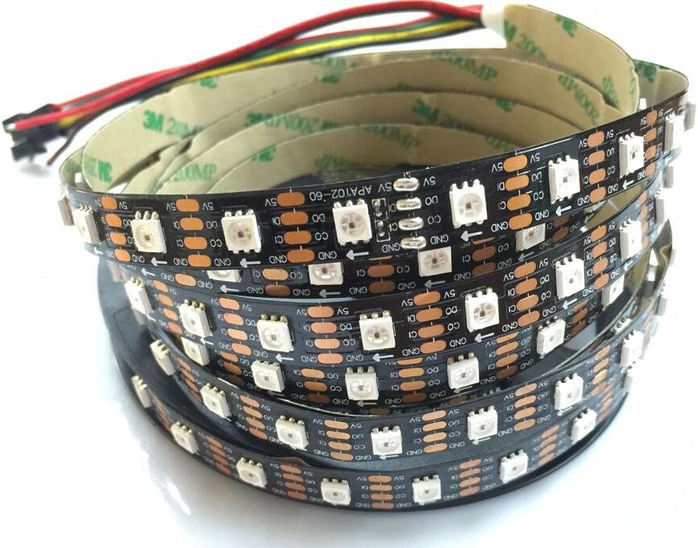 Led Streifen-Lichter 16.4Ft 5M 60 Pixel M Schwarzes PCB Nicht-wasserdichte IP20 APA102 Traumfarben-Streifen-Beleuchtung