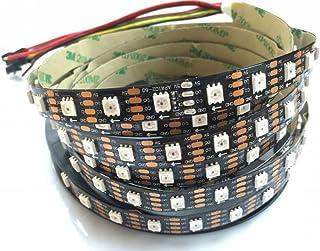 Bande lumineuse LED APA102 IP30 DC5 V 60 LED/M Adressable Smart LED Pixel Light Données et horloge séparées (PCB) Noir