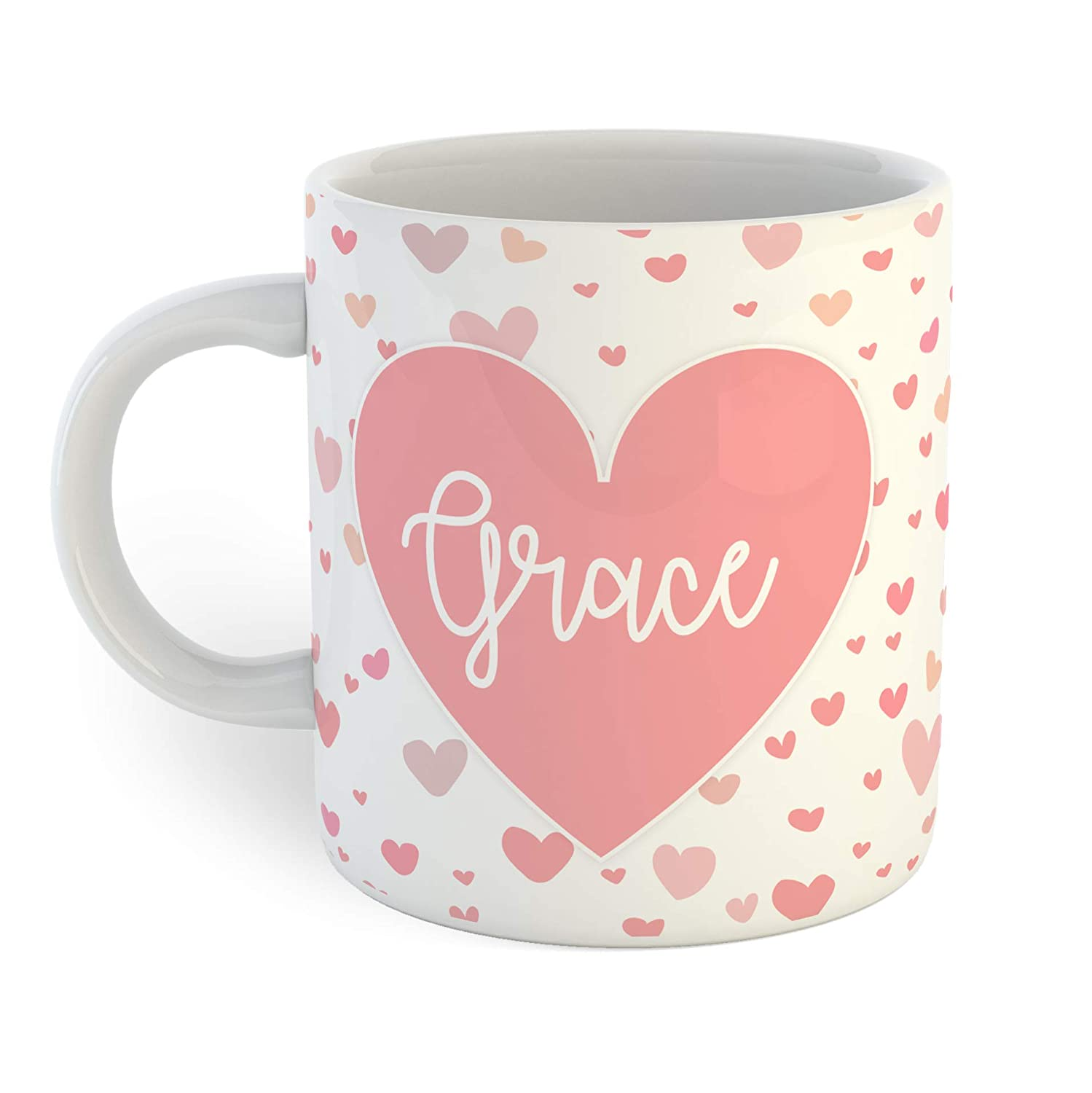 Ultra-Cheap Deals Pink New life Hearts Personalized Mug Coffee