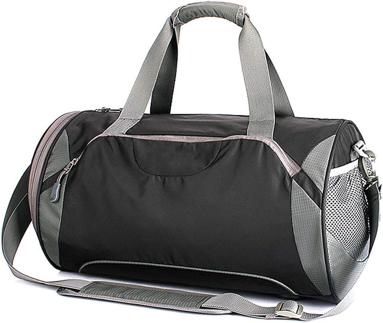 WY-AYNG Unisex Fitness-Tasche Reiserucksack Handtasche, Schulter Messenger Bag Trockene und nasse Trennsporttasche,schwarz,44  27  28cm B07L6G8VZW