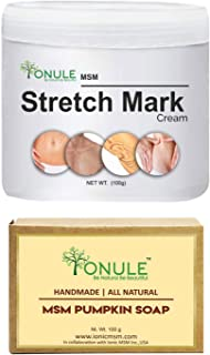 Ionule MSM Stretch Mark Cream with Pumpkin Soap for Men and Women Combo Pack of 2 - (2 X 90 gm)