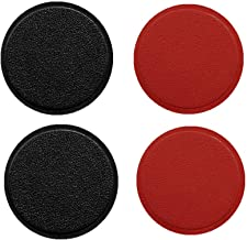 MeetRade 4Pack PU Leather Mount Metal Plate with Adhesive for Magnetic Holder Car Mount Cradle Replacement Metal Plate for Car Mount Magnet Holder (Compatible with Magnetic mounts) Black and Red