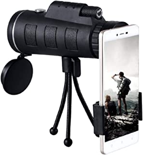 Monocular Telescope by DANMO, 40x60 High Power Monocular with Smartphone Holder and Tripod,Single Hand Focus for Outdoor, Bird Watching,Camping,Hunting,Travel