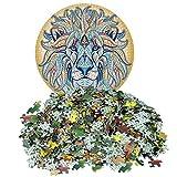 Puzzles para Adultos 10000 piezas, Redondo Puzzle, Rompecabezas Redondo, Puzzle Adultos, Puzzle Creativo, Rompecabezas para Niños, Rompecabezas Circular Juguete Intelectual (León)