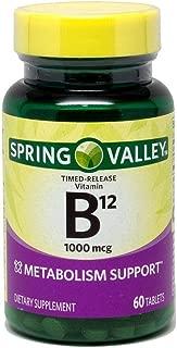 Spring Valley - Vitamin B-12, 1000 mcg, 60 Tablets