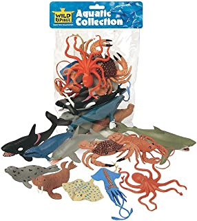 Wild Republic 64128 Aquatic Animals Polybag, Toy Figurines, Gifts for Kids, Party Supplies, Sensory Play, Kids Toys, 11 Pi...