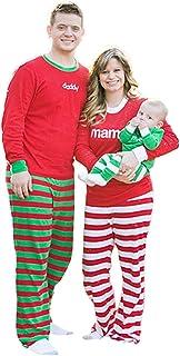 kingfansion Women Family Matching Christmas Pyjamas 2Pcs Long Sleeve Top+Pants Sleepwear