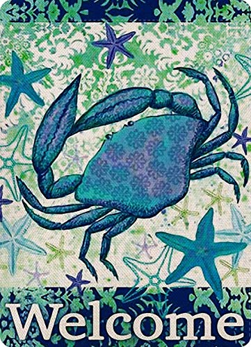 Vintage New Tin Poster Sea Crab Sea Star Summer Beach Swimming Pool Metal Tin Sign 8x12 Inch Retro Art Family Kitchen Bar Restaurant Garage Cafe Gas Shop Wall Decor Metal Plaque