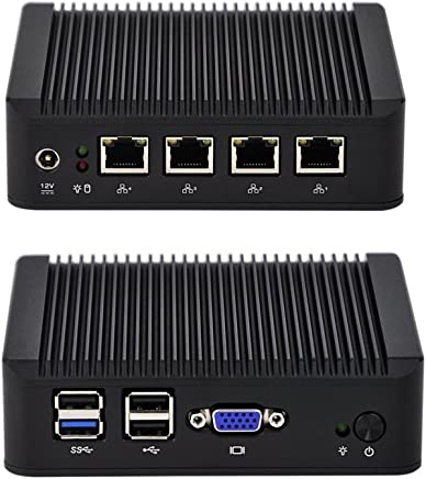Qotom Mini PC q190g4u-s01con Bay Trail J1900procesador y 4Intel Gigabit Nic, Pfsense Mini PC sin Ventilador Quad Core 2,42GHz, NO RAM NO SSD