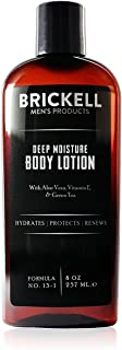 Brickell Men's Deep Moisture Body Lotion for Men, Natural and Organic Protects and Hydrates Dry Skin, 8 Ounce, Unscented