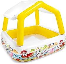 Piscina Inflable Infantil Con Capota Desmontable - Impermeable y Resistente al Desgaste Piscina de Agua para Niños - para Exteriores, Jardín, Patio Trasero, Etc(amarillo, 295L, 1.57×1.57×1.22m)