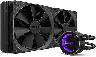 NZXT Kraken X62 280 mm - Refrigerador líquido de CPU RGB todo en uno - Con tecnología CAM - Diseño de espejo infinito - Bomba de alto rendimiento - Ventilador de radiador Aer P 140 mm (se incluyen 2)