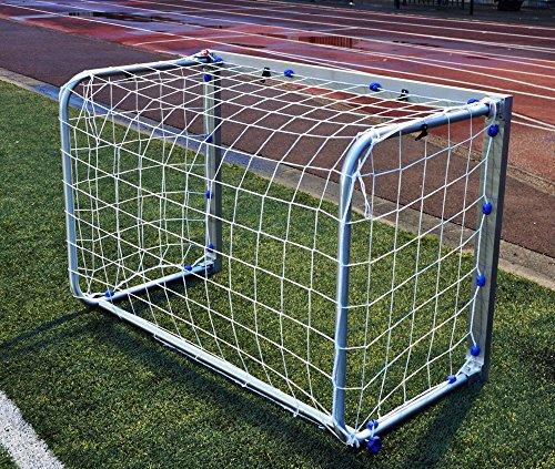 POWERSHOT Fußballtor - Minitor - Aluminium - 100% WETTERFEST - FALTBAR - 1,2 x 0,8/1,5 x 1,2m (1,2 x 0,8m)