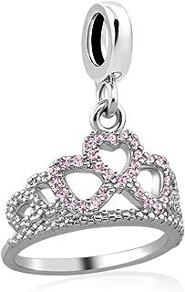 Princess Crown Charm Pendant Dangling Bead for Charms Bracelet