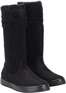 Flat n Heels Womens Black Boots FnH A1788-500-BK