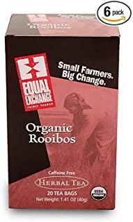 Equal Exchange Organic Rooibos Tea - 20 Bags per Pack -- 6 Packs per Case