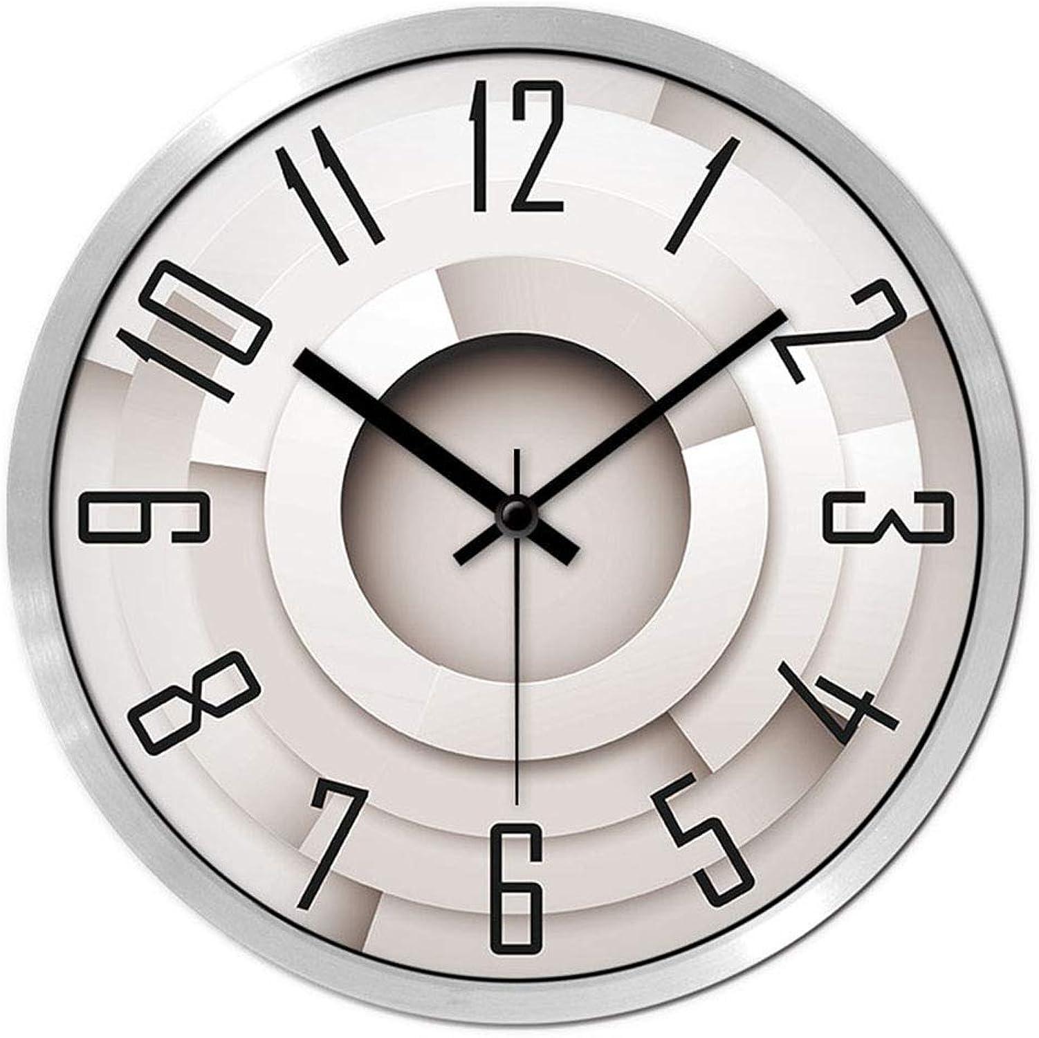 hasta un 65% de descuento SMC Personalidad y Moda Moda Moda Creatividad Moderno Minimalista Reloj Atmosférico Dormitorio silencioso Oficina Escuela Salón Decoración Reloj de Parojo (Color   plata, tamao   35X35cm)  cómodo