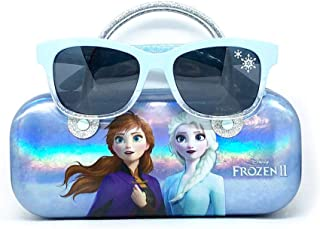 Disney Frozen 2 Girls Sunglasses with Carrying Case, Kids...