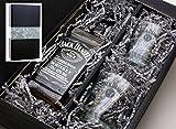 Geschenkkarton von meinglas24 mit Jack Daniels Whisky 40% 0,7l mit 2 Tumbler Gläser - ein tolles...