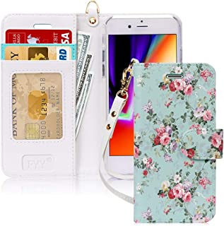 """FYY Case for iPhone 8/iPhone 7/iPhone SE 2020 4.7"""",[Kickstand Feature] Luxury PU Leather Wallet Case Flip Folio Cover with..."""
