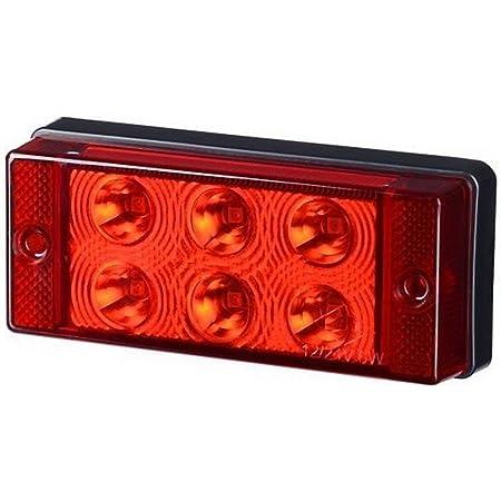 1 X 6 Smd Led Rot Hinten Nebel Licht 12v 24v Mit E Prüfzeichen Nebelleuchte Schlussleuchte Auto Lkw Pkw Kfz Universal Auto