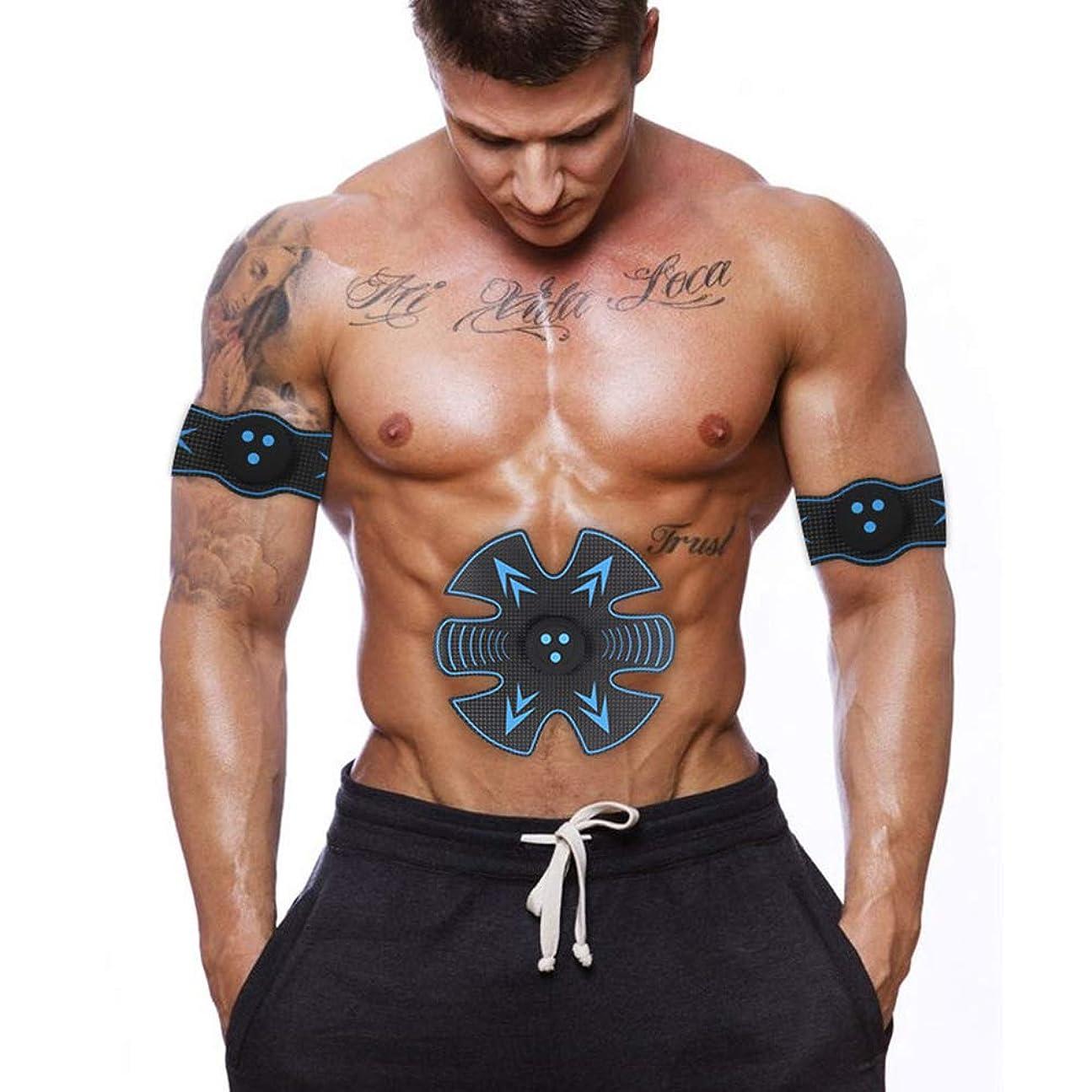 怪物かなり熟達した男性と女性のスマート電動腹部エクササイザEMS筋肉刺激装置ウエストマッスルトレーナー体重減少マッサージャーフィットネス機器