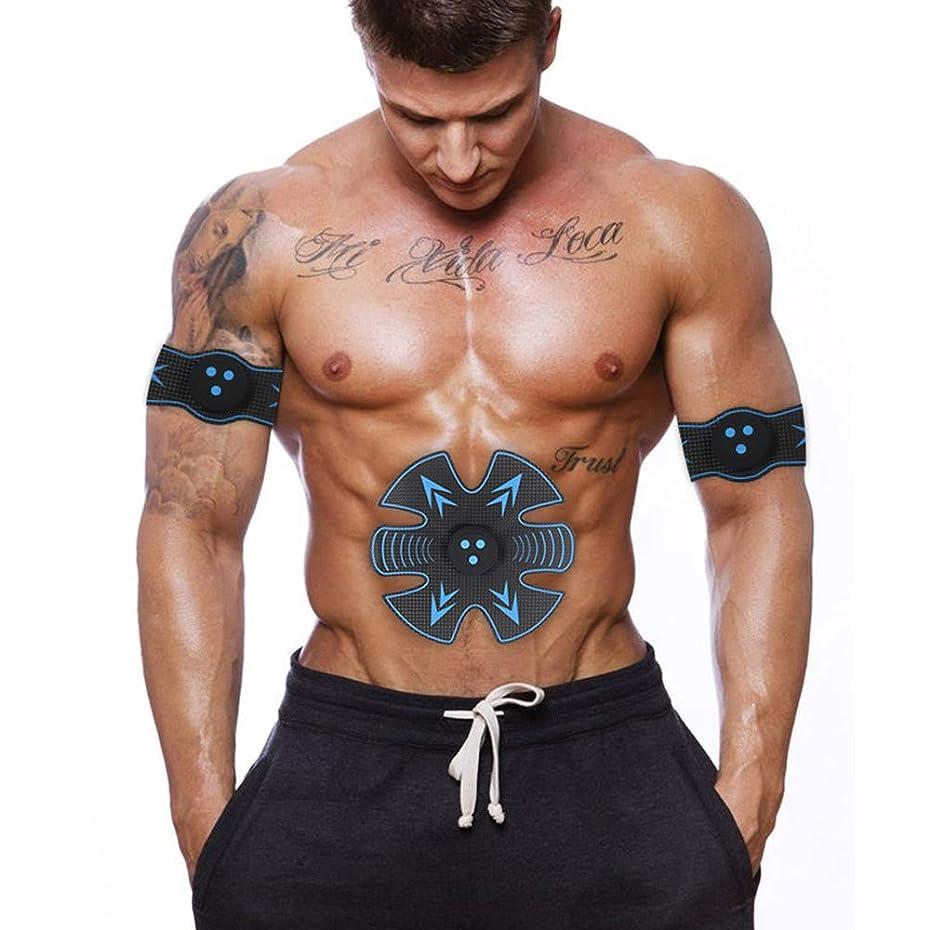 バズ記述するセメント男性と女性のスマート電動腹部エクササイザEMS筋肉刺激装置ウエストマッスルトレーナー体重減少マッサージャーフィットネス機器